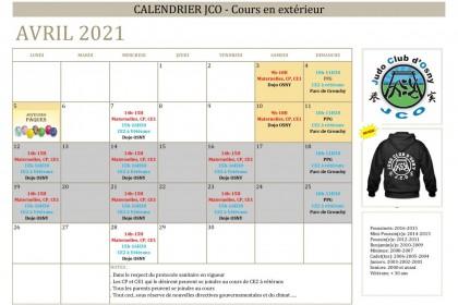 Calendrier Avril 2021